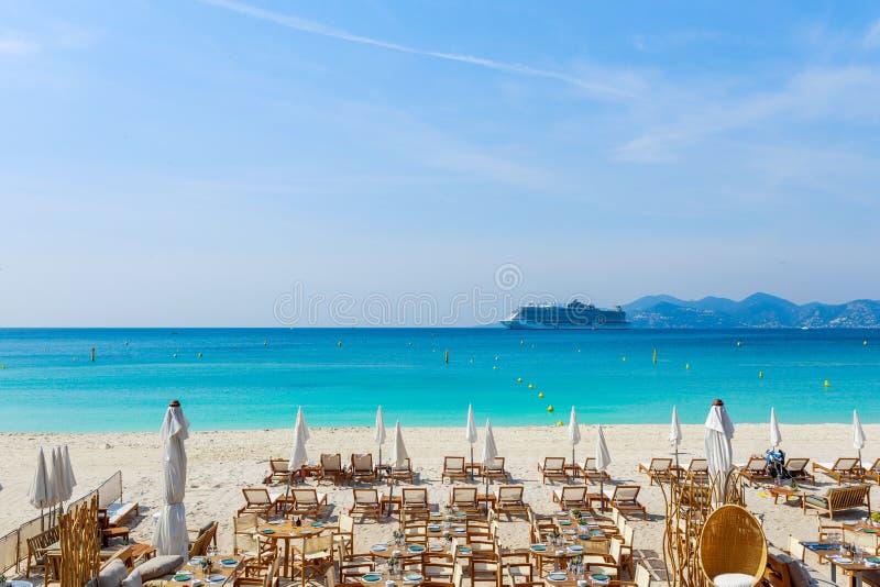 Panorama de Cannes, Cote d'Azur, Francia, Europa del sur Ciudad agradable y centro tur?stico de lujo de riviera francesa Destino  imagen de archivo libre de regalías