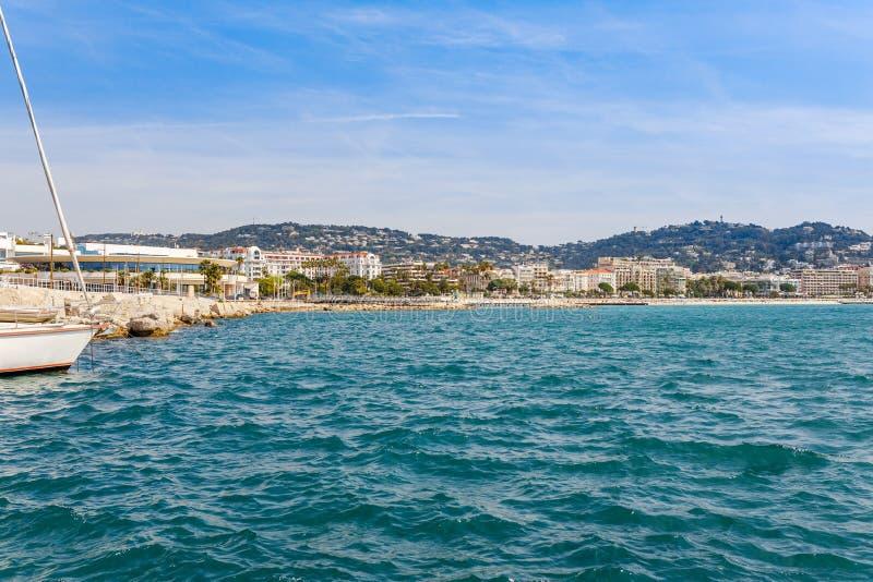 Panorama de Cannes, Cote d'Azur, Francia, Europa del sur Ciudad agradable y centro tur?stico de lujo de riviera francesa Destino  imagenes de archivo