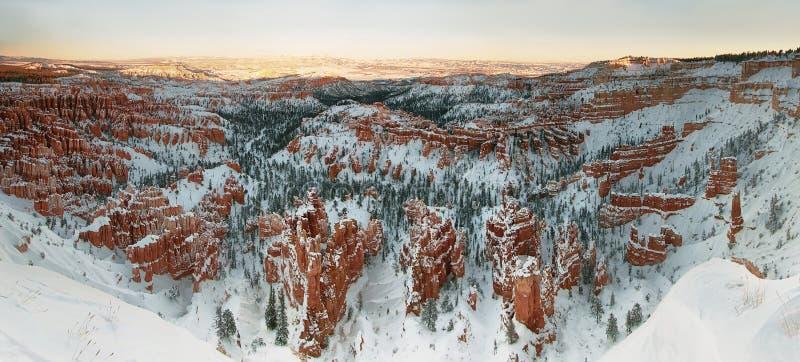 Panorama de canyon de Bryce photos stock