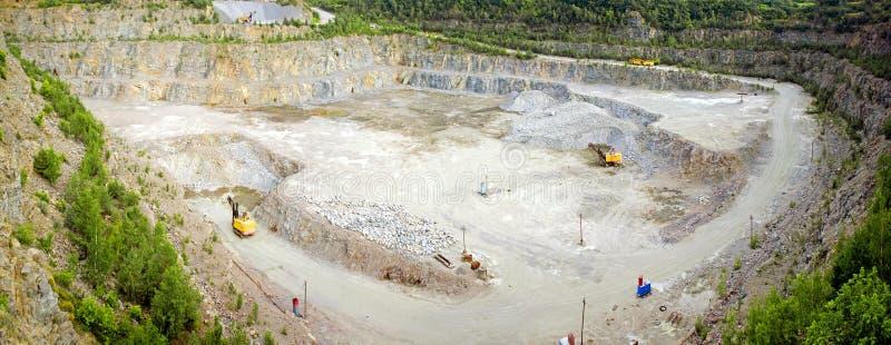 Panorama de carrière de granit photo stock