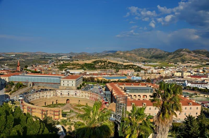 Panorama de Cartagena fotos de archivo