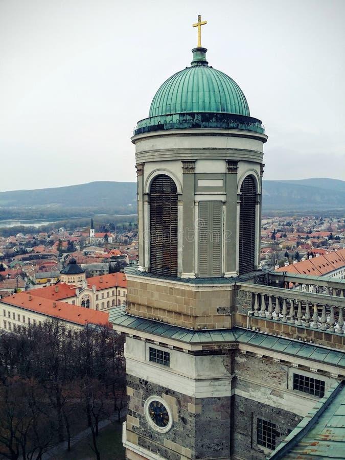 Panorama de cathédrale d'Esztergoms photos libres de droits