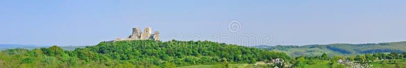 Panorama de château de Csesztnek image stock