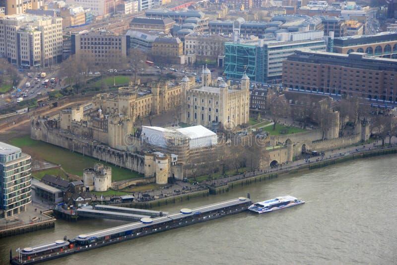 Panorama de château de tour de Londres photos stock