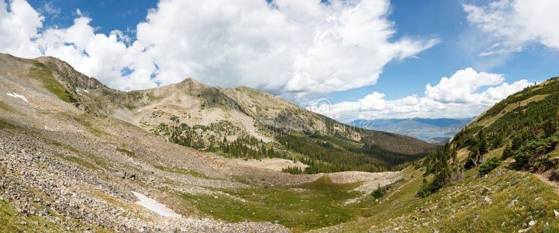 Panorama de chaîne de Tenmile, Rocky Mountains, le Colorado image stock