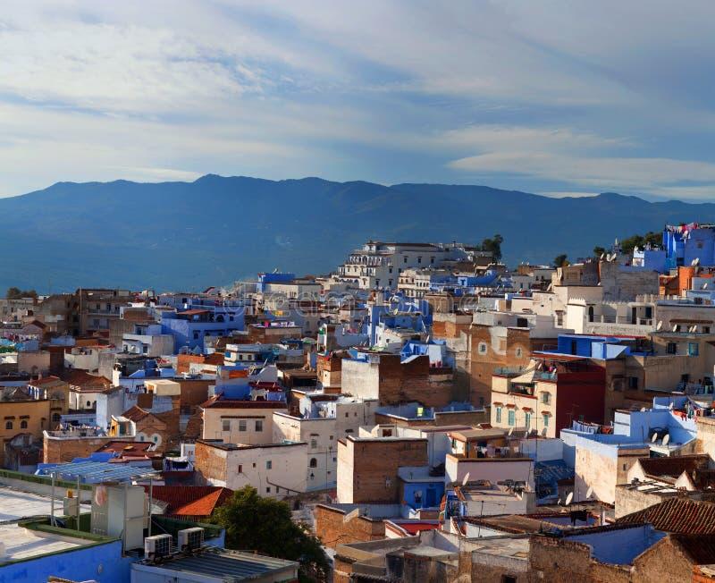 Panorama de Chefchaouen la Médina au Maroc, Afrique photos libres de droits