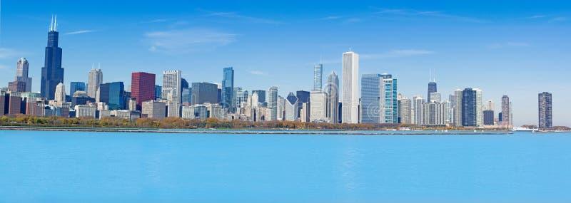 Panorama de Chicago fotografia de stock royalty free