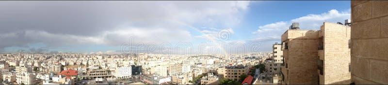 Panorama de ciel d'Amman photos stock