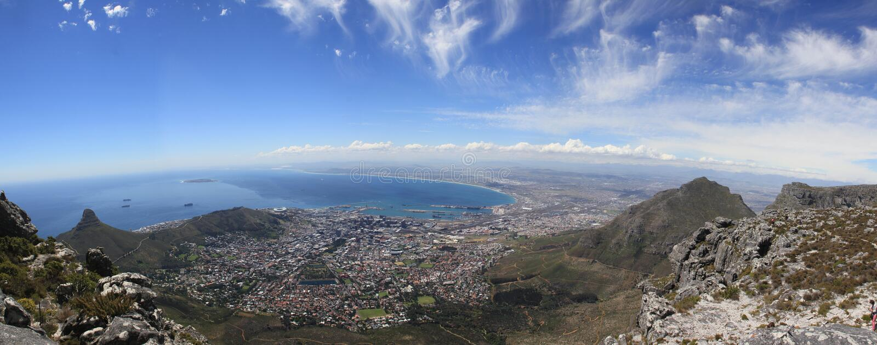 Panorama de Ciudad del Cabo foto de archivo