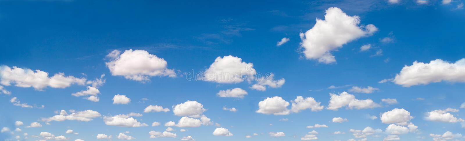 Panorama de Cloudscape photographie stock libre de droits