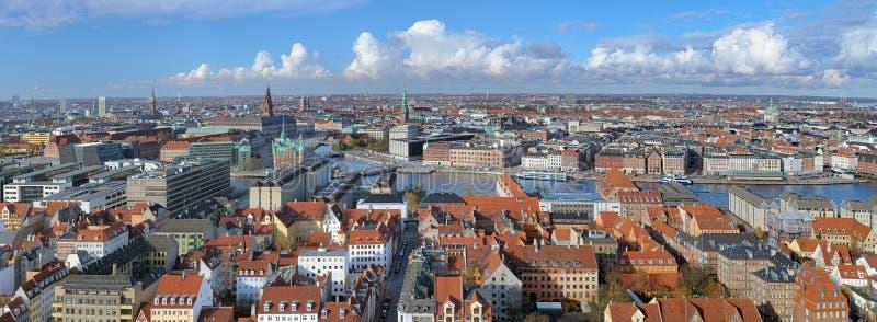 Panorama de Copenhaga, Dinamarca imagem de stock