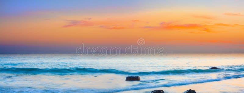 Panorama de coucher du soleil photo libre de droits