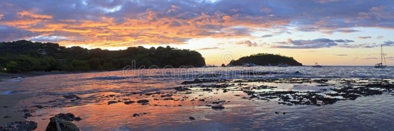 Panorama de coucher du soleil d'Ocotal images stock