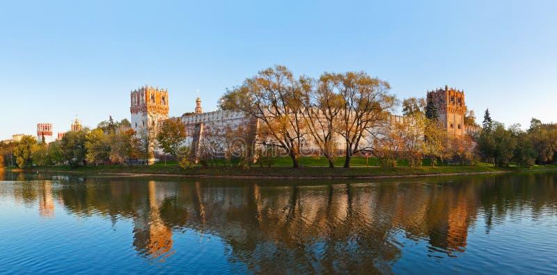 Panorama de couvent de Novodevichiy à Moscou Russie photographie stock