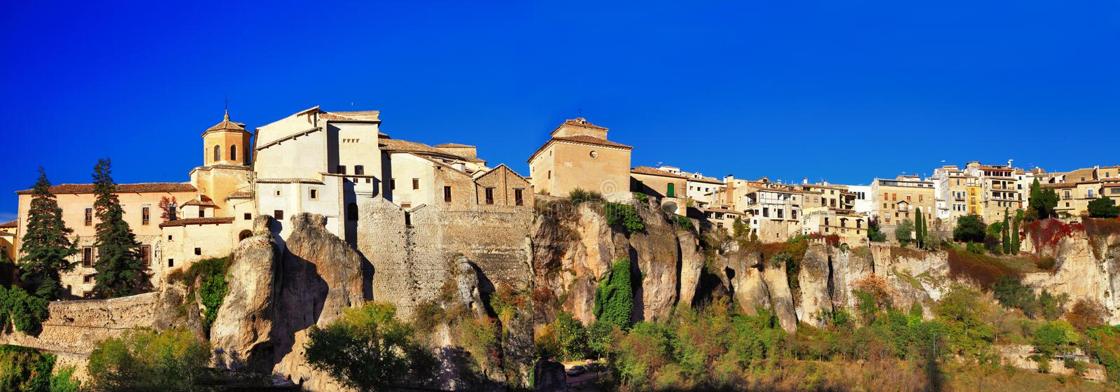 Panorama de Cuenca - Spain fotografia de stock royalty free