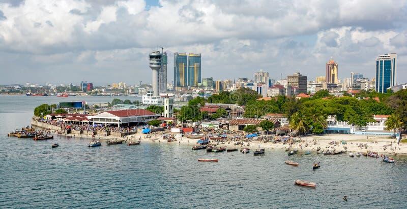 Panorama de Dar Es Salaam photographie stock