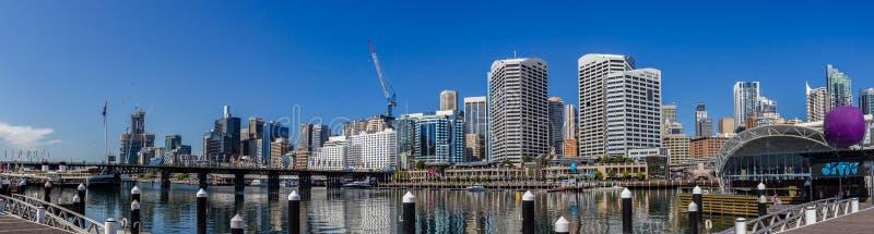 Panorama de Darling Harbour, Nouvelle-Galles du Sud photo stock