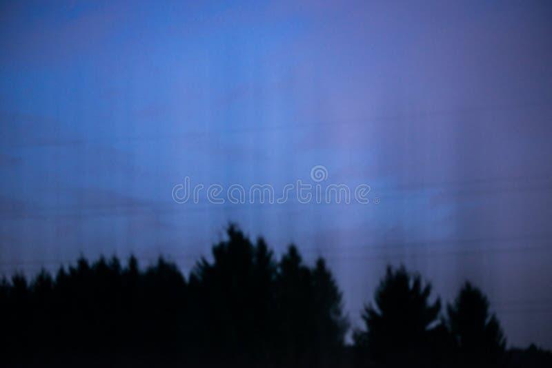 Panorama de descoloramiento azul marino de la luna de la noche imagenes de archivo
