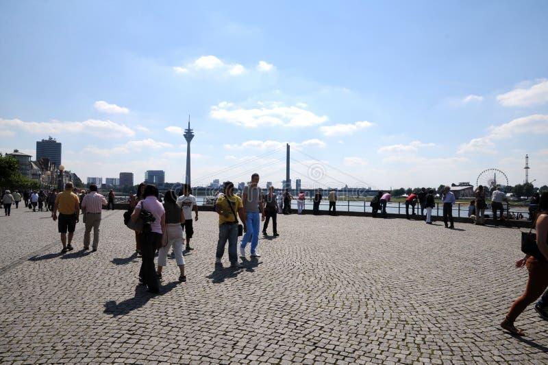 Panorama de Duesseldorf imagen de archivo