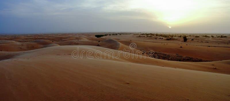 Panorama de dunas de Chinguetti no por do sol imagens de stock