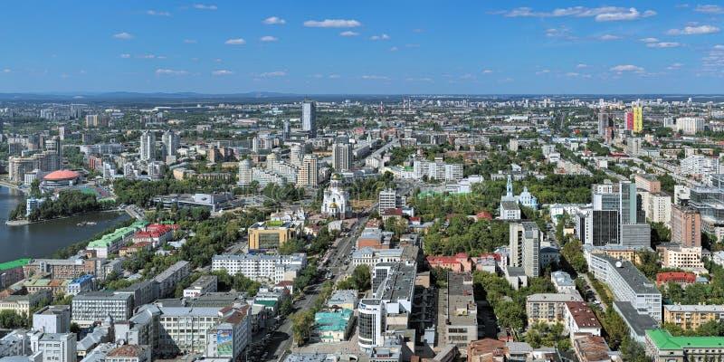 Panorama de Ekaterimburgo, Rusia imágenes de archivo libres de regalías