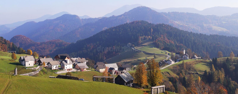 Panorama de Eslovenia fotos de archivo