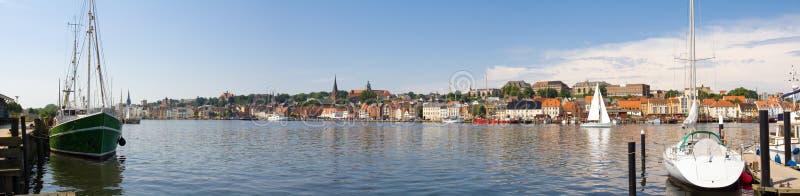Panorama de Flensburg fotos de archivo libres de regalías