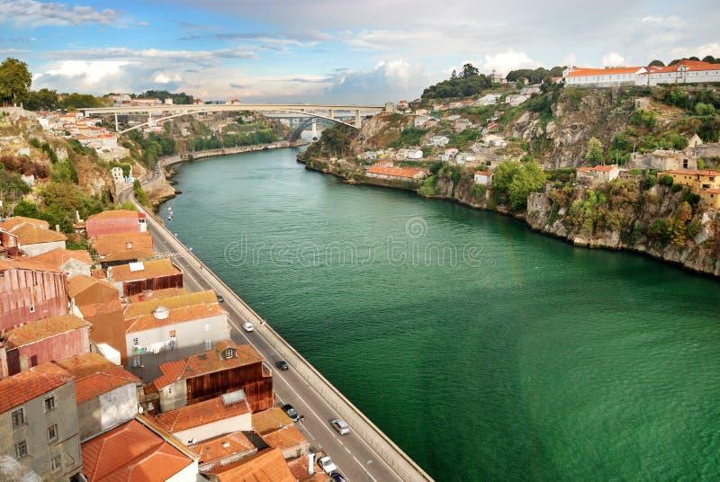 Panorama de fleuve de Douro images stock