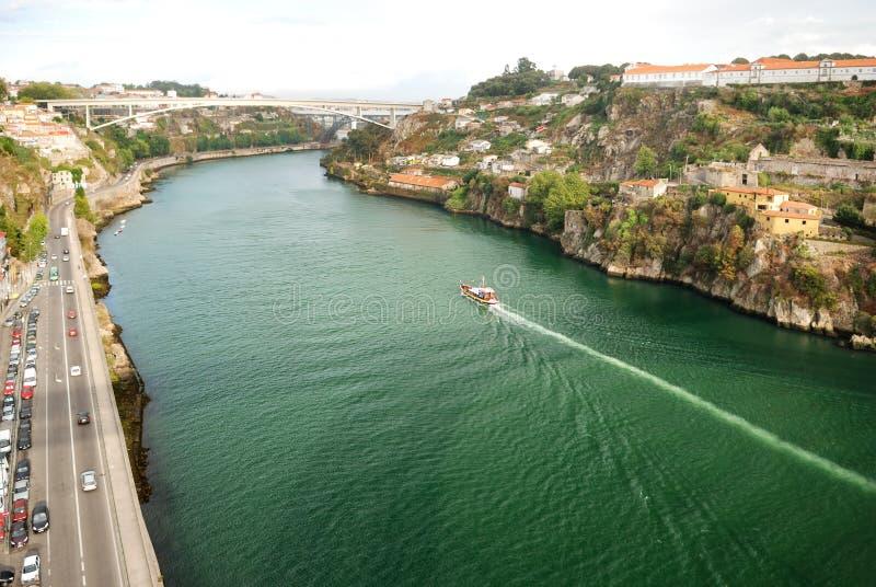 Panorama de fleuve de Douro, Porto photo stock