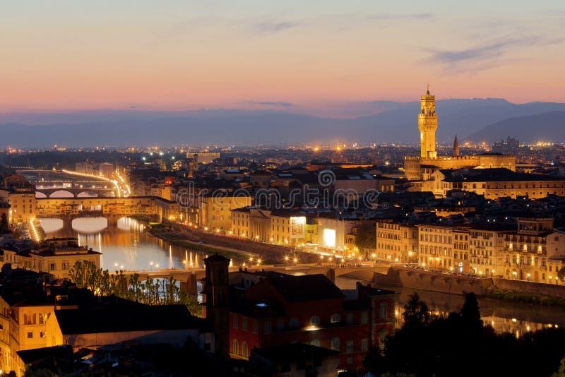 Panorama de Florence au coucher du soleil images libres de droits