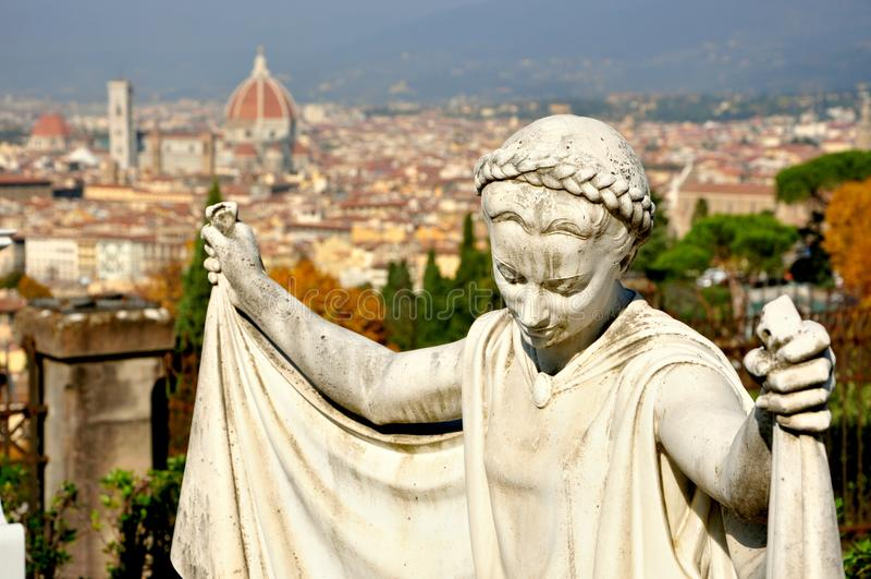 Panorama de Florence, Italie images libres de droits