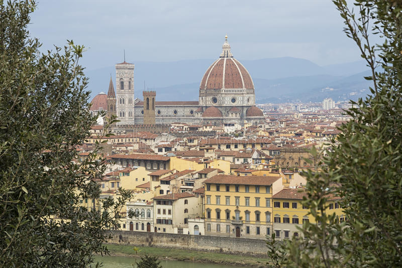 Panorama de Florencia fotografía de archivo