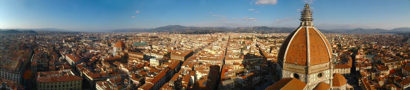 Panorama de Florencia (Italia) imágenes de archivo libres de regalías