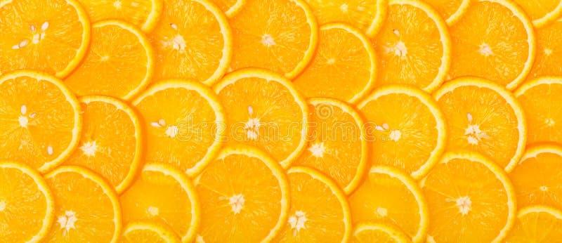 Panorama de fond orange découpé en tranches photos stock