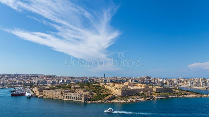 Panorama de fort Manoel à La Valette, Malte photo stock