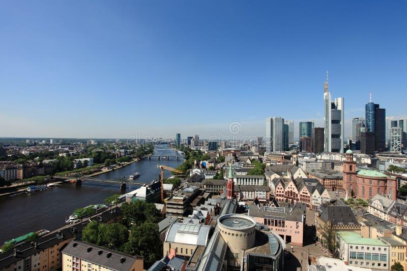 Panorama de Francoforte imagem de stock royalty free