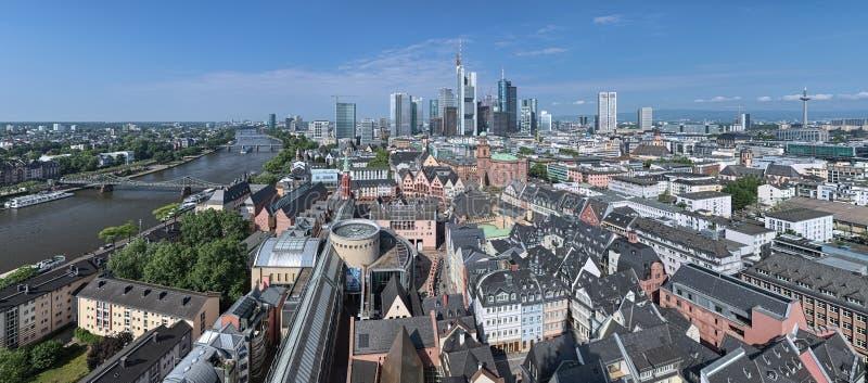 Panorama de Francoforte - am - cano principal, Alemanha fotografia de stock royalty free