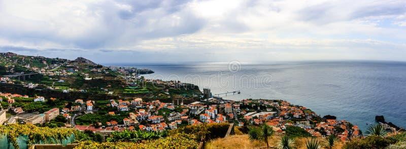 Panorama de Funchal na ilha de Madeira, Portugal imagem de stock