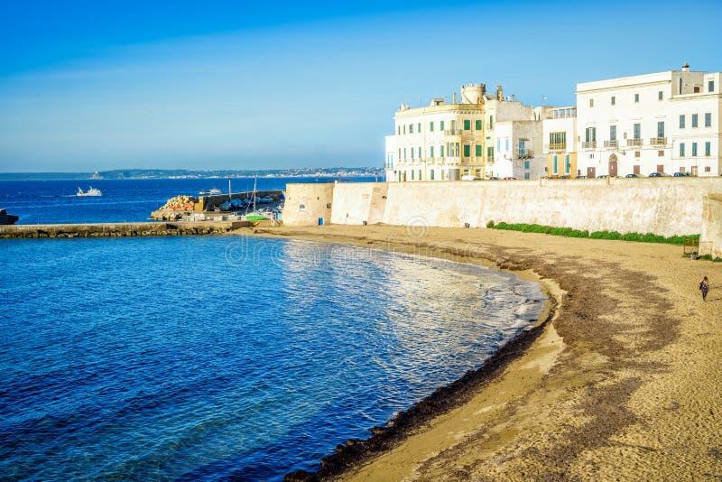 Panorama de Gallipoli hermoso, Italia fotos de archivo libres de regalías