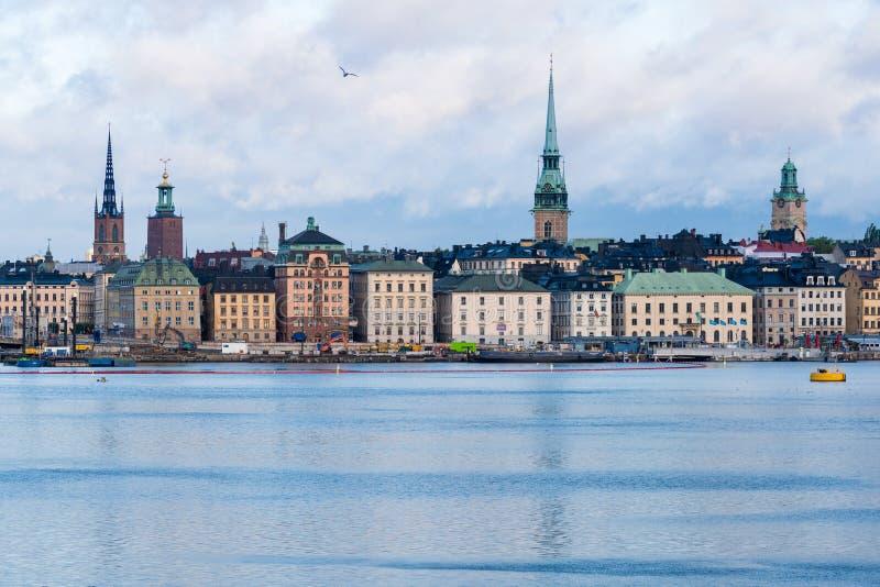 Panorama de Gamla Stan en Estocolmo, Suecia fotografía de archivo libre de regalías