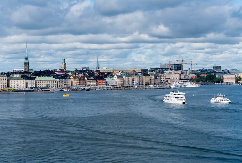 Panorama de Gamla Stan en Estocolmo, Suecia imagen de archivo libre de regalías