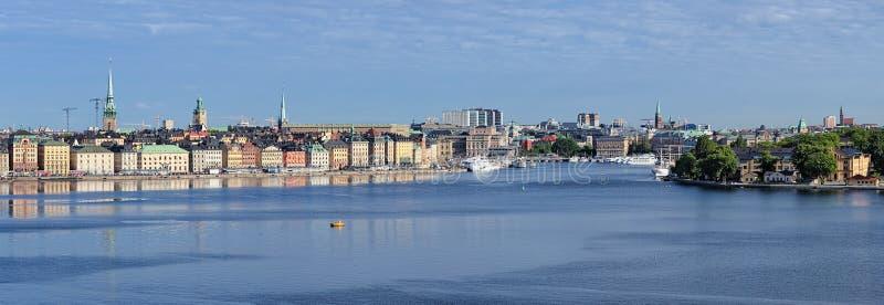Panorama de Gamla Stan en Estocolmo, Suecia imagen de archivo