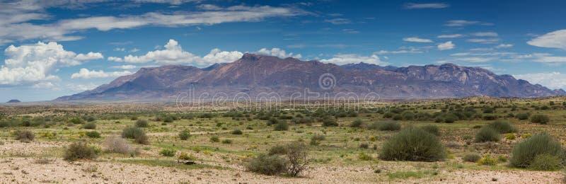 Panorama de gamme de montagne de Brandberg image stock