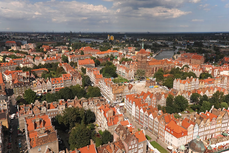 Panorama de Gdansk fotos de stock