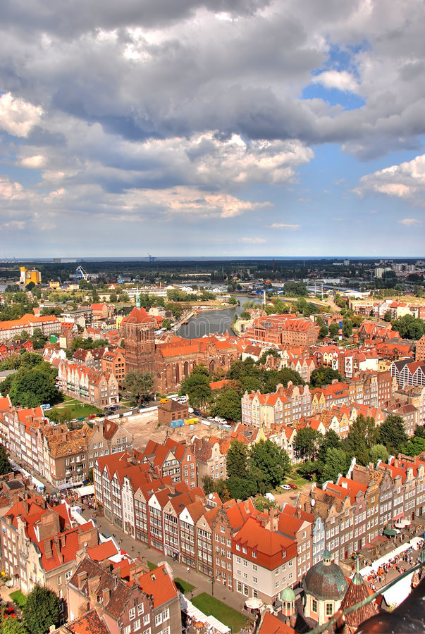 Panorama de Gdansk foto de stock royalty free