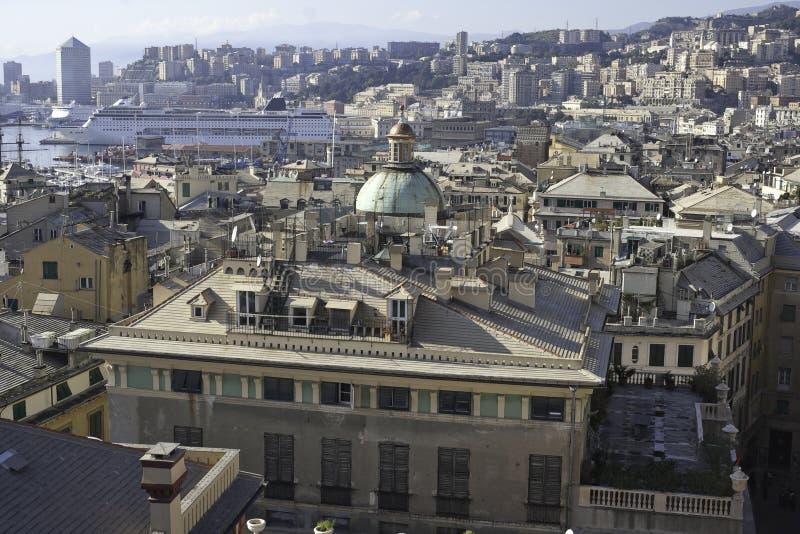 Panorama de Genoa imagem de stock