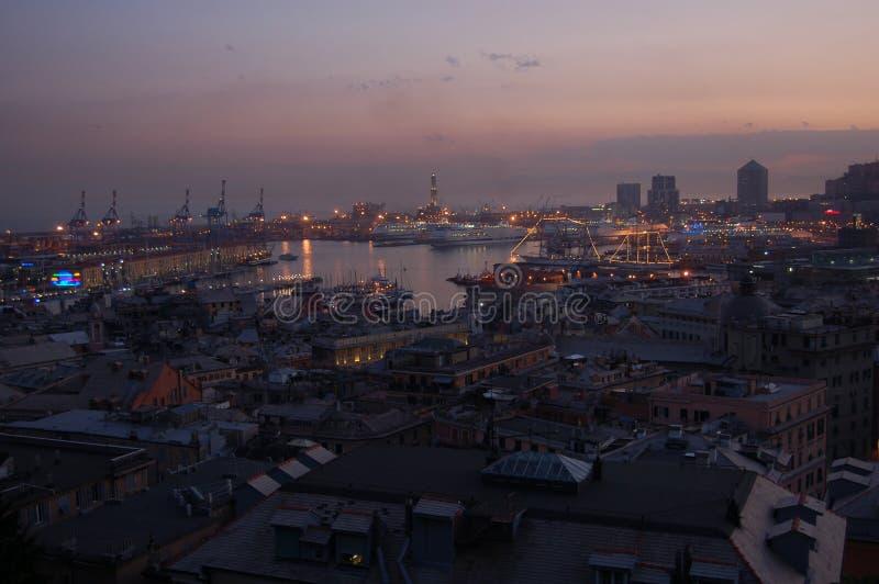 Panorama de Genoa foto de stock royalty free