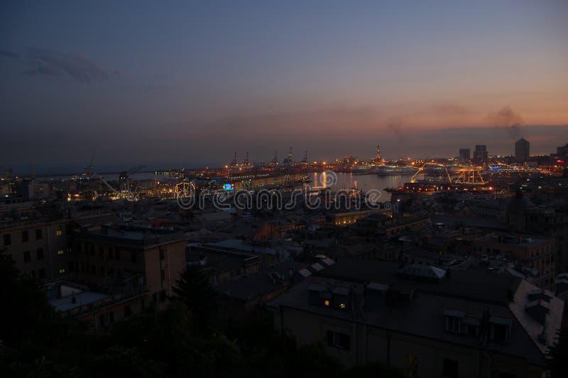 Panorama de Genoa fotos de stock