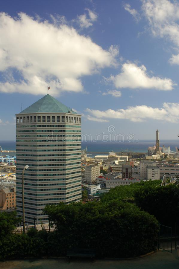 Panorama de Genoa fotos de stock royalty free