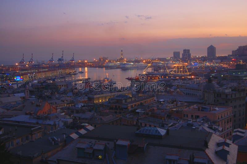 Panorama de Genoa imagens de stock